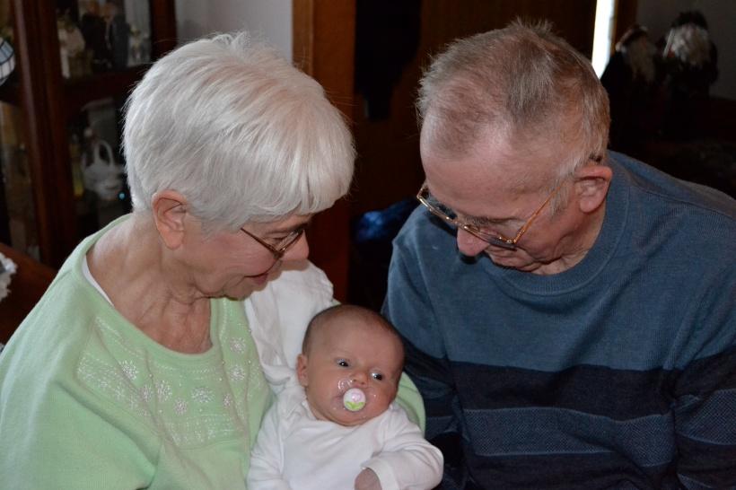 With Great Grandma Pat & Great Grandpa Randy.