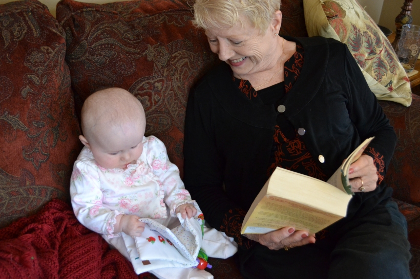 We hope Charlotte inherited a love for reading from her Deeda.
