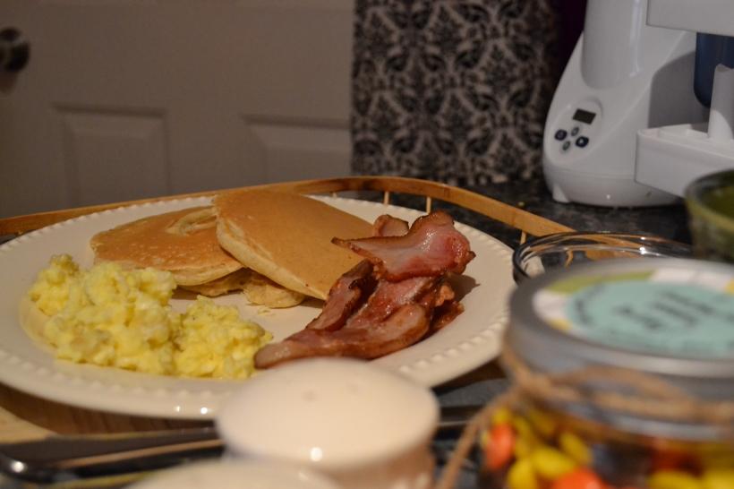 We made breakfast...