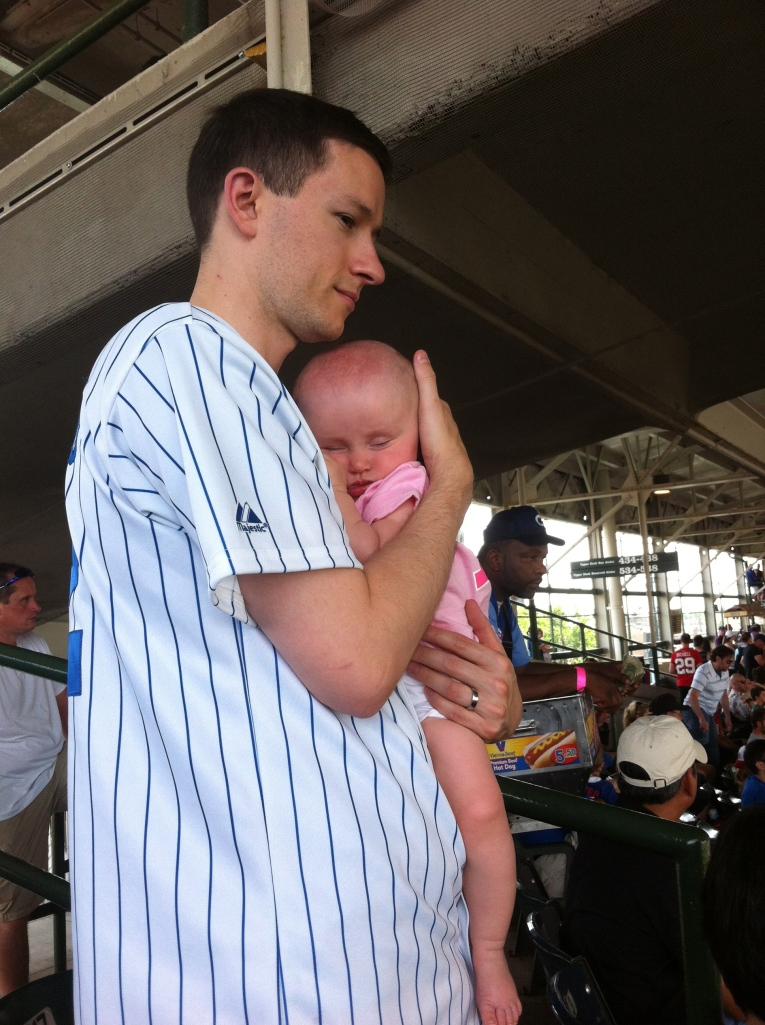 ...and the #1 Dad got her to fall asleep during the fifth inning.
