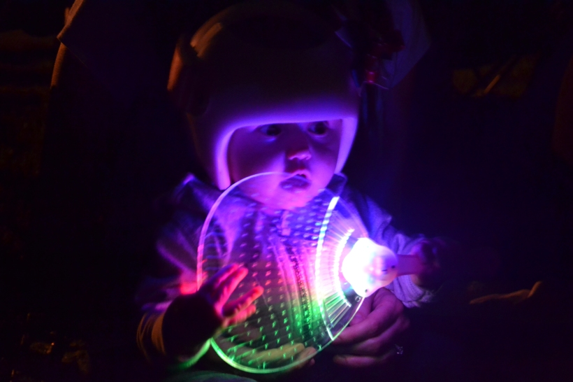 ...with her light up fan!