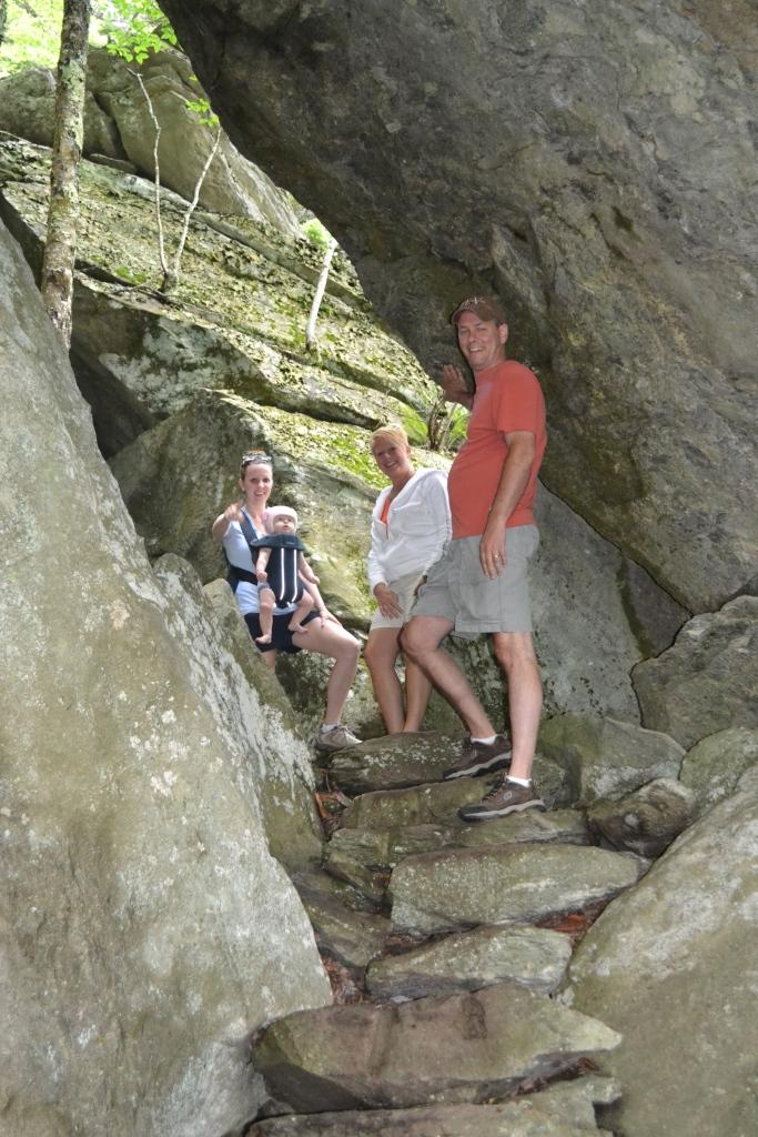 Hiking with Nana & Poppy.