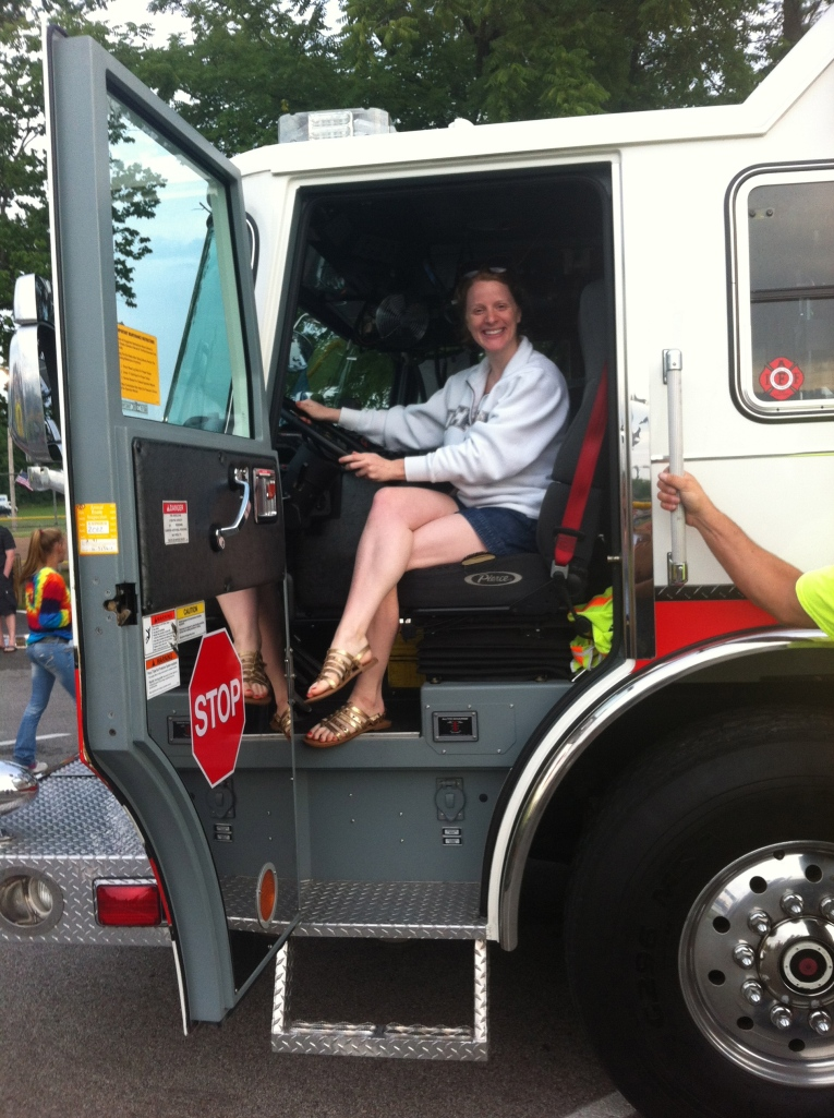 Aunt Marge joined us! In her fire truck, of course.