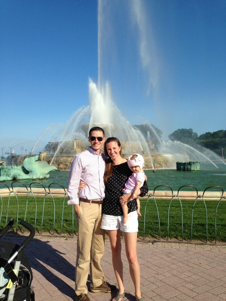 Visiting Buckingham Fountain...check.