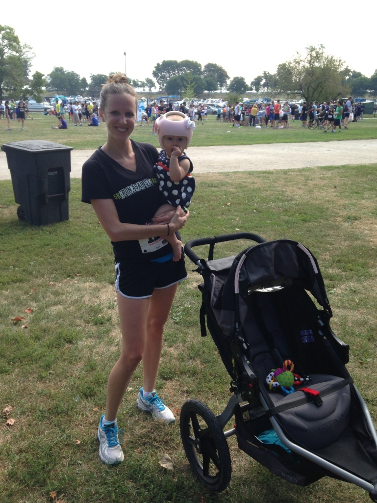 Charlotte & I ran our first 5K...we did not win, but that's ok.