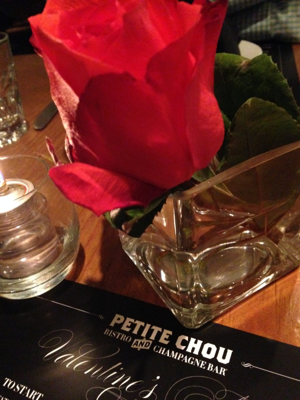 Dinner at Petite Chou, which went above and beyond in making Charlotte's Valentine's Day special!