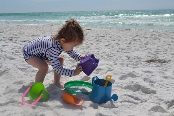 Beach + buckets = paradise.