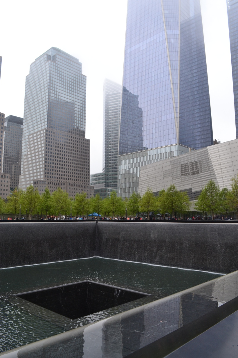 Reflection pool at the 9/11 Memorial.