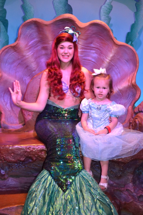 Meeting Ariel in her Grotto.